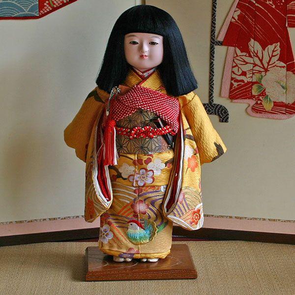 【送料無料!】【創作】京製尺市松人形(女)
