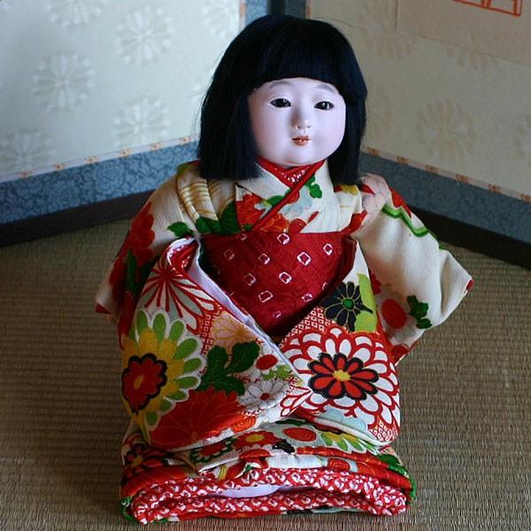 【送料無料!】【松乾斎東光】京製市松人形 スワリ