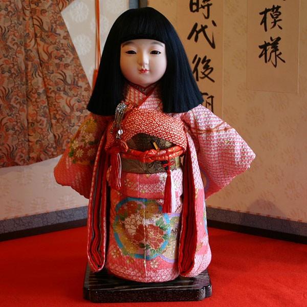 【送料無料!】【熊倉聖祥】京製尺二市松人形(女)