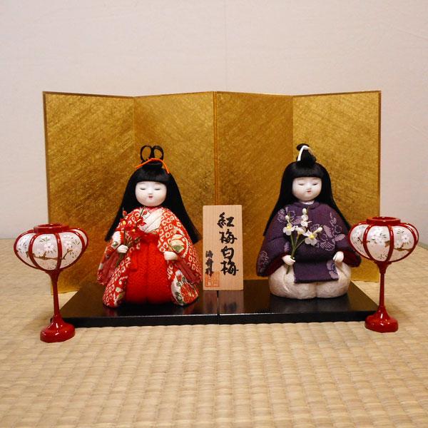 オリジナル、雛、ひな人形、ひな祭り【送料無料!】京製木目込雛 紅梅白梅