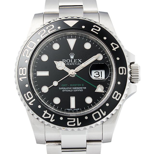 【48回払いまで無金利】ロレックス GMTマスターII G番 116710LN メンズ(12ROU000531)【中古】【腕時計】【送料無料】