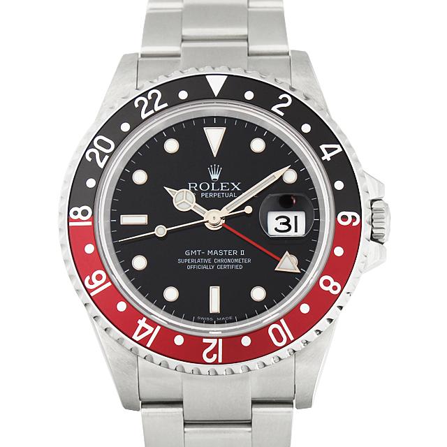 【最大3万円OFFクーポン配布!6/1(土)0時開始】ロレックス GMTマスターII 赤黒ベゼル Z番 16710 メンズ(1HROU000081)【中古】【腕時計】【送料無料】【48回払いまで無金利】