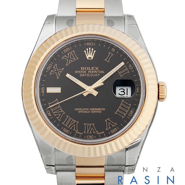 【48回払いまで無金利】ロレックス デイトジャストII 116333 ブラック/ブラックローマ メンズ(0018ROAR0024)【新品】【腕時計】【送料無料】