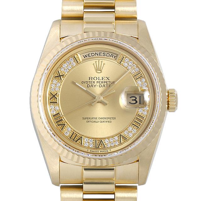<title>ROLEX ロレックス デイデイト 優先配送 ミリヤードダイヤ 18238MR シャンパン Champagne Gold 中古 メンズ 最大3万円クーポン ポイント2倍 ローマ W番 10VMROAU0012 腕時計 送料無料 60回払いまで無金利</title>