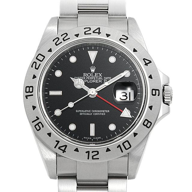 【60回払いまで無金利】ロレックス エクスプローラーII 16570 ブラック M番 メンズ(11RRROAU0001)【中古】【腕時計】【送料無料】