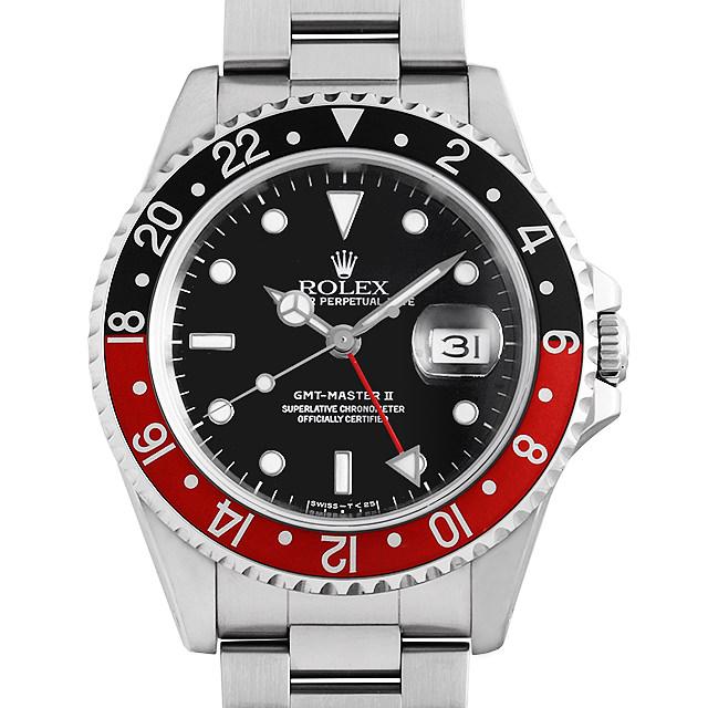 ROLEX 安い ロレックス GMTマスターII 赤黒ベゼル 16710 ブラック Black X番 60回払いまで無金利 大人気 0PXCROAU0020 腕時計 中古 メンズ 送料無料