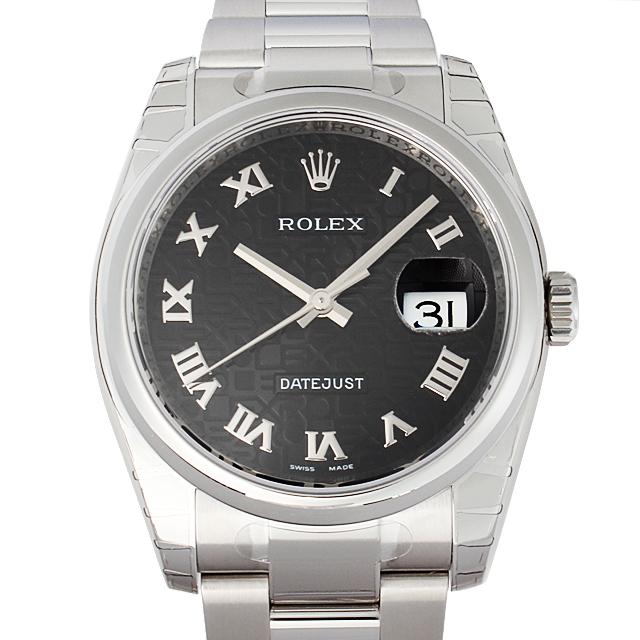 【48回払いまで無金利】ロレックス デイトジャスト 116200 ブラック彫りコンピューター メンズ(N-116200BCR)【新品】【腕時計】【送料無料】