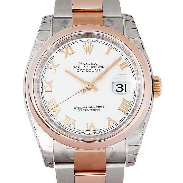 【48回払いまで無金利】ロレックス デイトジャスト 116201 ホワイト/ローマ メンズ(N-116201)【新品】【腕時計】【送料無料】