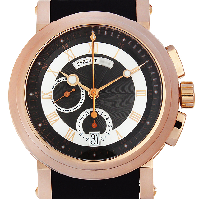 【48回払いまで無金利】ブレゲ マリーンII クロノグラフ 5827BR/Z2/5ZU メンズ(12BCU000051)【中古】【腕時計】【送料無料】