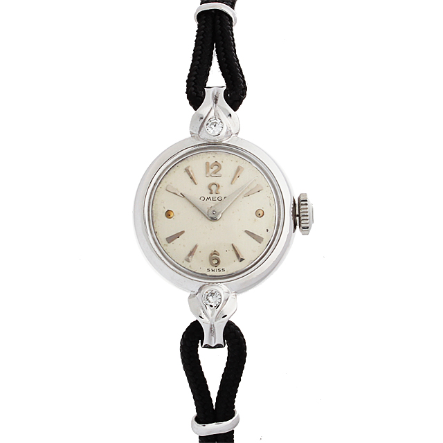 【48回払いまで無金利】オメガ ラウンド ラグ2Pダイヤ レディース(87OMA000005)【アンティーク】【腕時計】【送料無料】