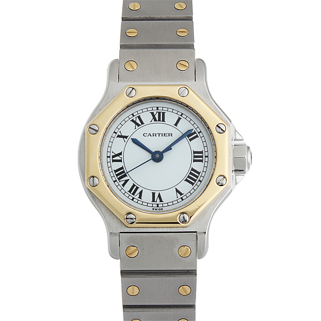 【48回払いまで無金利】カルティエ サントス オクタゴン レディース(1HCAU000066)【中古】【腕時計】【送料無料】