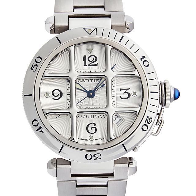 【48回払いまで無金利】カルティエ パシャ 38mm グリッド W31040H3 メンズ(9VCAU000008)【中古】【腕時計】【送料無料】