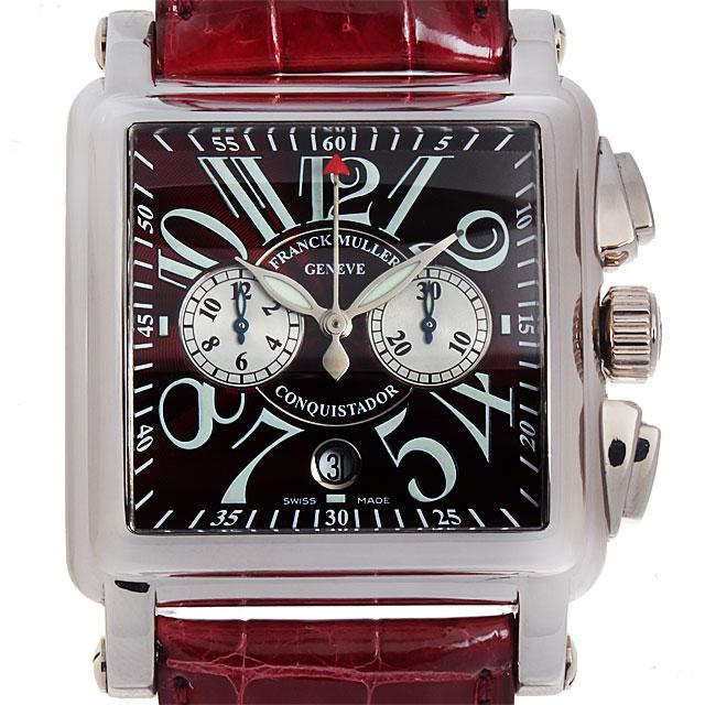 【48回払いまで無金利】フランクミュラー コンキスタドール コルテス クロノグラフ 10000CC OG メンズ(008WFRAU0001)【中古】【腕時計】【送料無料】