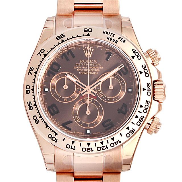 【48回払いまで無金利】ロレックス コスモグラフ デイトナ 116505 ブラウン/アラビア メンズ(002XROAN0005)【新品】【腕時計】【送料無料】