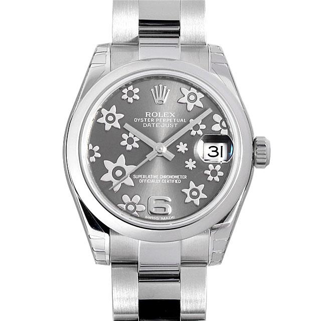 【48回払いまで無金利】ロレックス デイトジャスト 6アラビア グレーフラワー 178240 ボーイズ(ユニセックス)(07NDROAN0101)【新品】【腕時計】【送料無料】