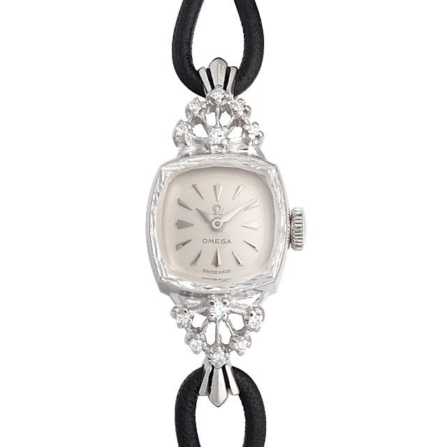 【48回払いまで無金利】オメガ スクエア ラグダイヤ レディース(009VOMAA0006)【アンティーク】【腕時計】【送料無料】
