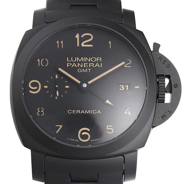【48回払いまで無金利】パネライ トゥットネロ ルミノール1950 3デイズ GMT O番 PAM00438 メンズ(003IOPAS0017)【中古】【未使用】【腕時計】【送料無料】