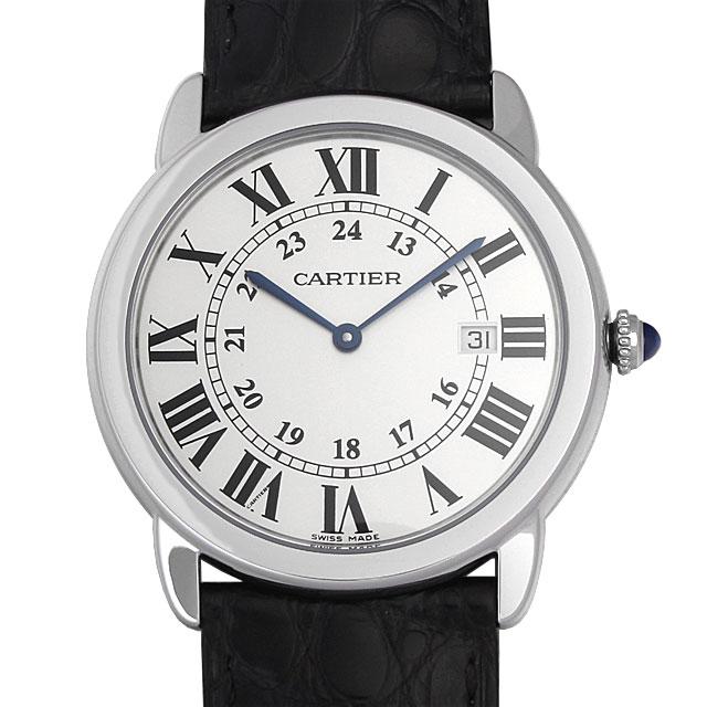【48回払いまで無金利】カルティエ ロンドソロ ドゥカルティエ LM W6700255 メンズ(0066CAAN0673)【新品】【腕時計】【送料無料】