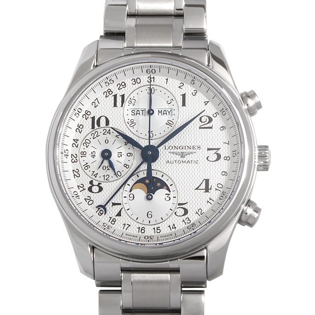 【48回払いまで無金利】ロンジン マスターコレクション クロノグラフ ムーンフェイズ L2.673.4.78.6 メンズ(0064LGAN0017)【新品】【腕時計】【送料無料】