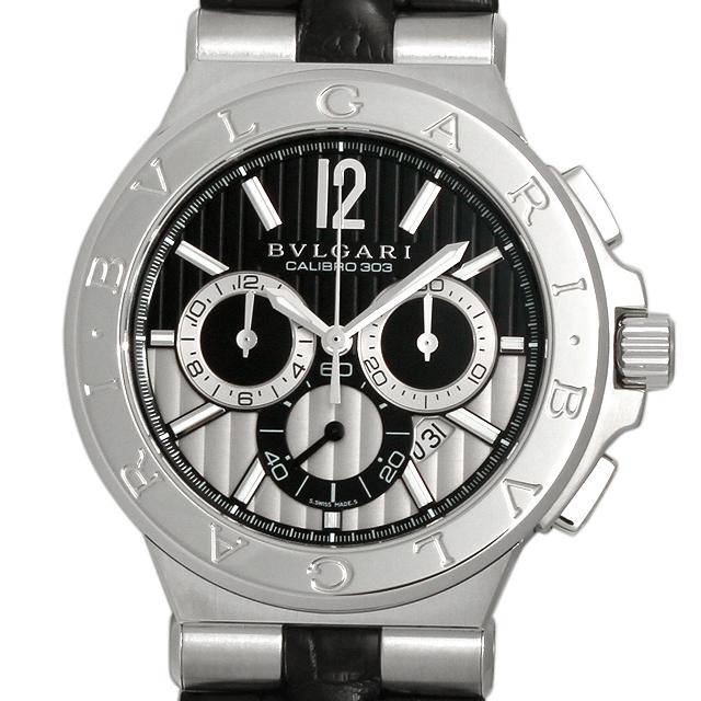 【48回払いまで無金利】SALE ブルガリ ディアゴノ カリブロ303 DG42BSLDCH メンズ(001HBVAU0005)【中古】【腕時計】【送料無料】