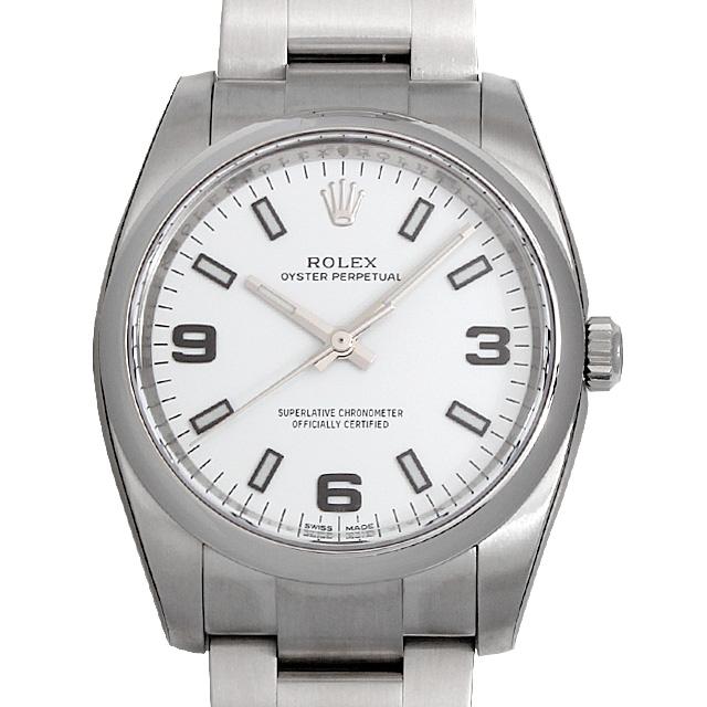 【48回払いまで無金利】ロレックス オイスターパーペチュアル 114200 ホワイト/369ホワイトバー メンズ(0066ROAN0103)【新品】【腕時計】【送料無料】
