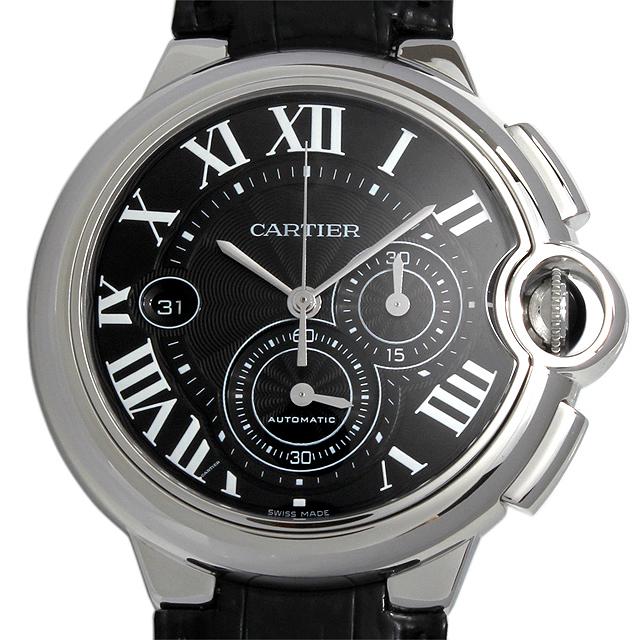 【48回払いまで無金利】SALE カルティエ バロンブルー クロノグラフ W6920052 メンズ(0050CAAU0010)【中古】【腕時計】【送料無料】