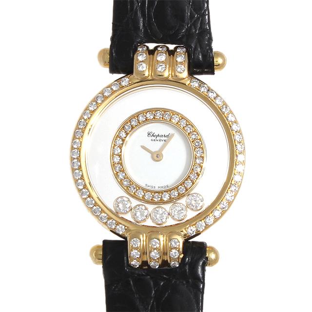 【48回払いまで無金利】ショパール ハッピーダイヤモンド 20/5605 レディース(0087CPAU0005)【中古】【腕時計】【送料無料】