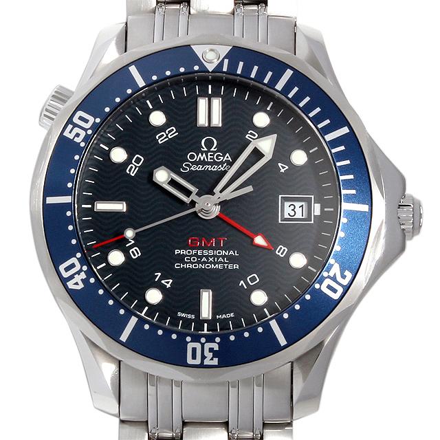 【48回払いまで無金利】オメガ シーマスター プロフェッショナル GMT 2535.80 メンズ(04WKOMAU0001)【中古】【腕時計】【送料無料】