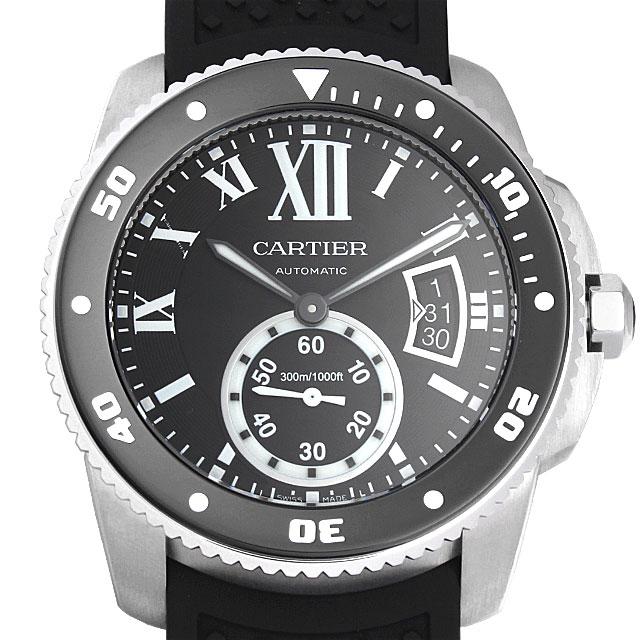 【48回払いまで無金利】カルティエ カリブル ドゥ カルティエ ダイバー W7100056 メンズ(04YECAAS0001)【中古】【未使用】【腕時計】【送料無料】