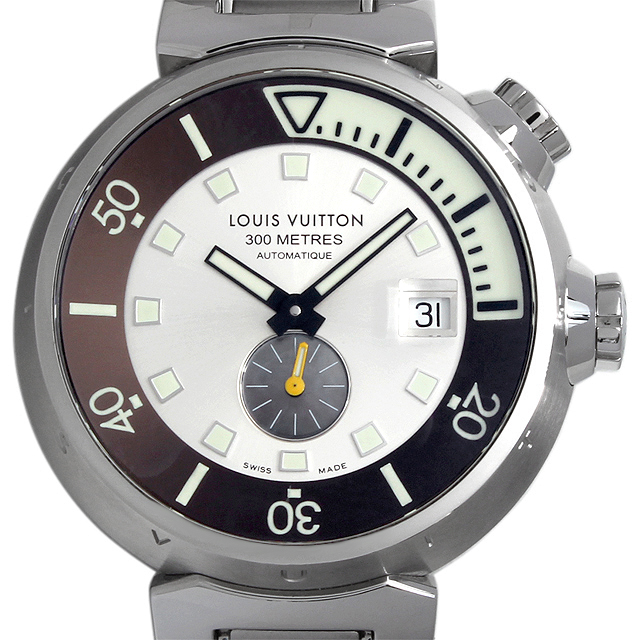 【48回払いまで無金利】SALE ルイヴィトン タンブール ダイビング Q103M メンズ(008WLVAU0003)【中古】【腕時計】【送料無料】