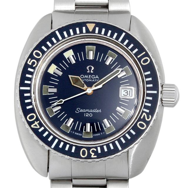 【48回払いまで無金利】オメガ シーマスター 120 ディープブルー 166.073 メンズ(009MOMAA0005)【アンティーク】【腕時計】【送料無料】