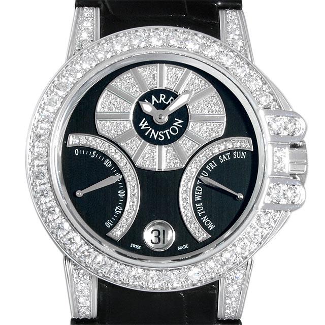 【48回払いまで無金利】ハリーウィンストン オーシャン バイレトログラード ケースダイヤ 400/UABI36W メンズ(009VHUWU0001)【中古】【腕時計】【送料無料】
