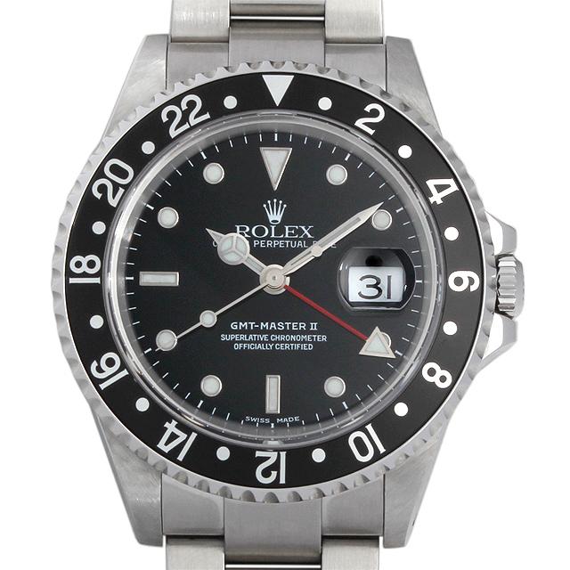 【48回払いまで無金利】ロレックス GMTマスターII P番 16710 メンズ(059YROAU0001)【中古】【腕時計】【送料無料】