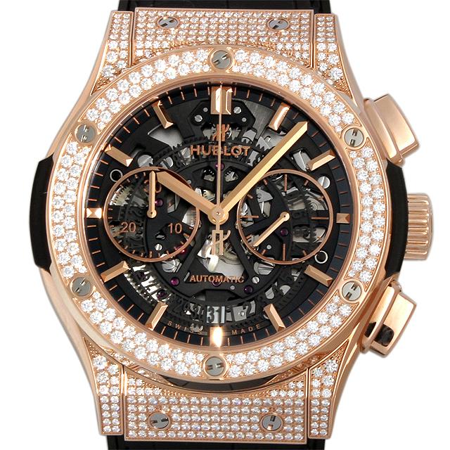 【48回払いまで無金利】ウブロ アエロフュージョン キングゴールド パヴェ 525.OX.0180.LR.1704 メンズ(015PHBAN0002)【新品】【腕時計】【送料無料】