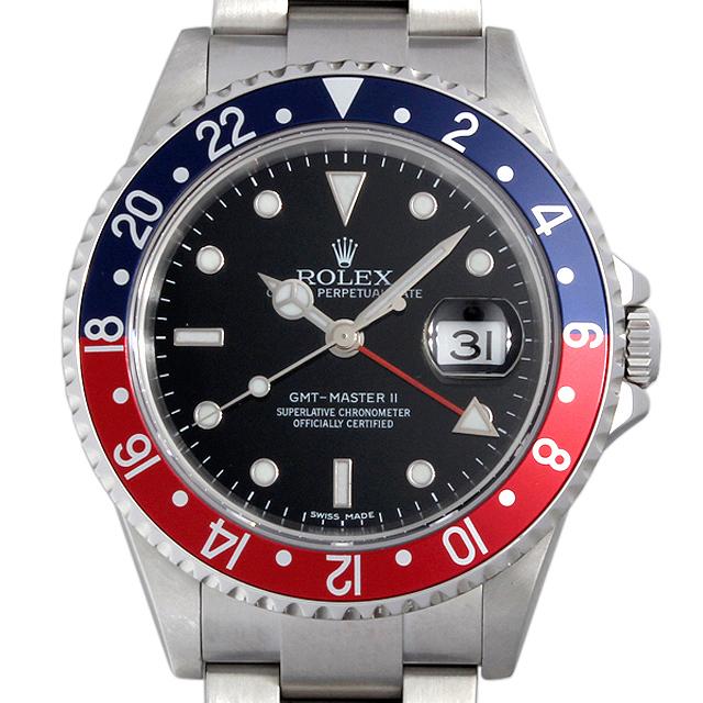 【48回払いまで無金利】SALE ロレックス GMTマスターII スティックダイアル D番 16710 メンズ(0050ROAU0031)【中古】【腕時計】【送料無料】