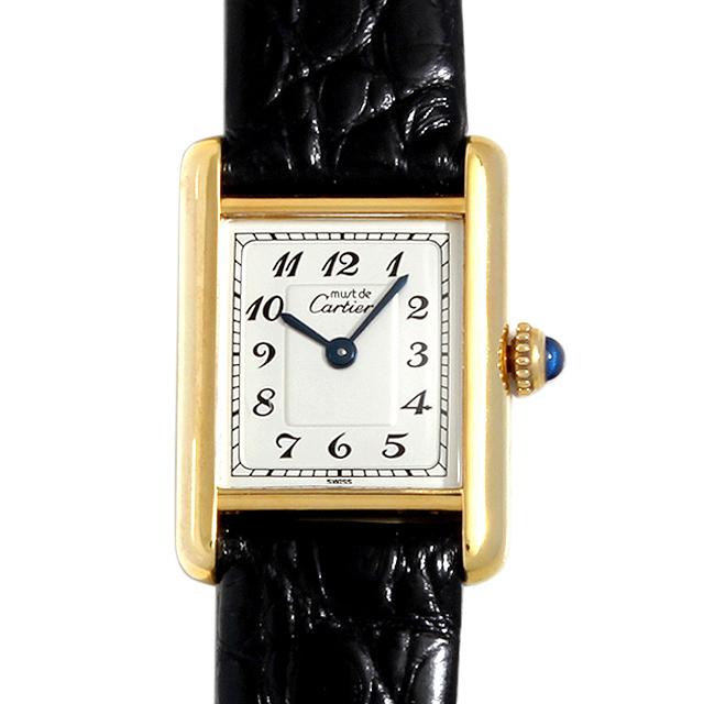 【48回払いまで無金利】カルティエ マストタンク ヴェルメイユ SM レディース(006XCAAU0044)【中古】【腕時計】【送料無料】