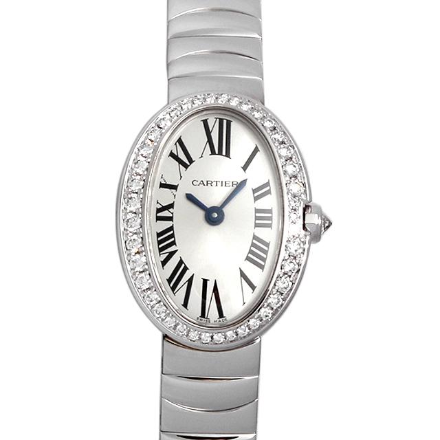 80d2ec38d6 カルティエミニベニュワールベゼルダイヤWB520025レディース(009VCAAU0041)【中古】【腕時計】
