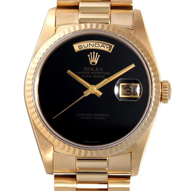 【48回払いまで無金利】ロレックス デイデイト R番 18238 ONYX オニキス メンズ(027YROAT0002)【中古】【腕時計】【送料無料】