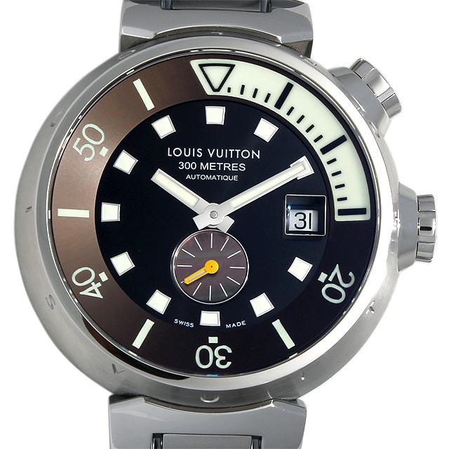 【48回払いまで無金利】ルイヴィトン タンブール ダイビング Q1031 メンズ(05LILVAU0001)【中古】【腕時計】【送料無料】