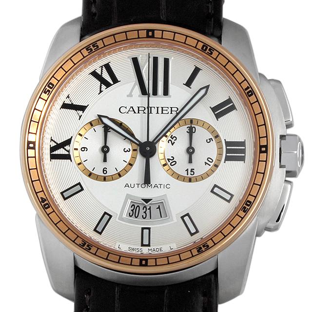 カルティエ カリブル ドゥ カルティエ クロノグラフ W7100043 メンズ(027JCAAN0015)【新品】【腕時計】【送料無料】