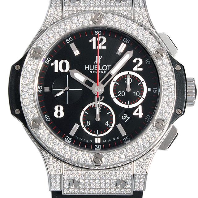 【48回払いまで無金利】ウブロ ビッグバン スティール パヴェ 301.SX.130.RX.174 メンズ(008WHBAU0017)【中古】【腕時計】【送料無料】
