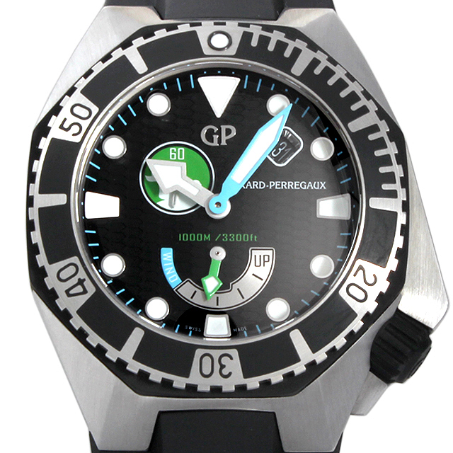 【48回払いまで無金利】ジラールペルゴ シーホーク ミッション オブ マーメイド リミテッド 49960-19-1219SFK6A メンズ(039YGIAU0001)【中古】【腕時計】【送料無料】