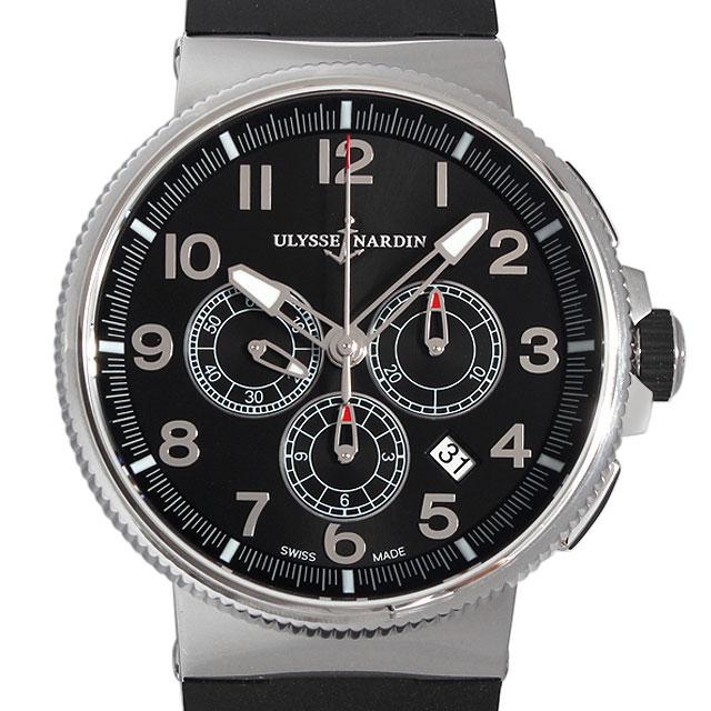 【48回払いまで無金利】ユリスナルダン マリーン クロノグラフ マニュファクチュール 1503-150-3/62 メンズ(004MUNAN0028)【新品】【腕時計】【送料無料】