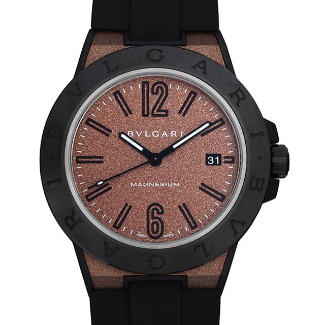 【48回払いまで無金利】ブルガリ ディアゴノ マグネシウム ブラウンラッカー DG41C11SMCVD メンズ(006MBVAN0003)【新品】【腕時計】【送料無料】