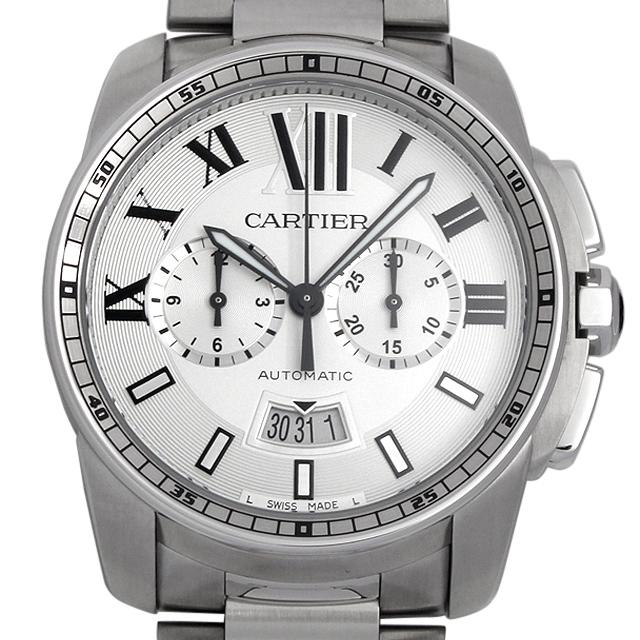 カルティエ カリブル ドゥ カルティエ クロノグラフ W7100045 メンズ(006TCAAN0001)【新品】【腕時計】【送料無料】