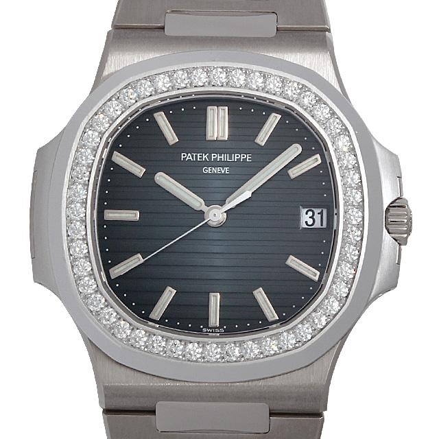 【48回払いまで無金利】パテックフィリップ ノーチラス ベゼルダイヤ 5713/1G-010 メンズ(02DNPPAS0001)【中古】【未使用】【腕時計】【送料無料】
