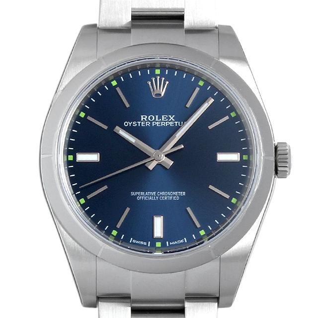 【48回払いまで無金利】ロレックス オイスターパーペチュアル39 114300 ブルー メンズ(0BCCROAN0001)【新品】【腕時計】【送料無料】