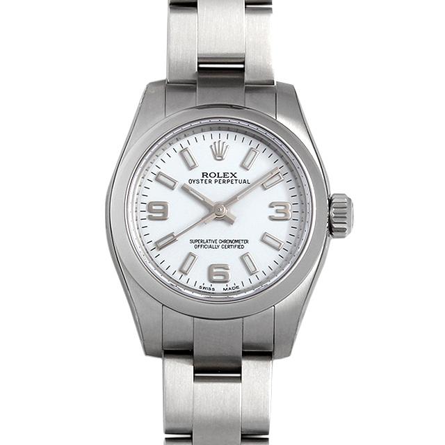 【48回払いまで無金利】ロレックス オイスターパーペチュアル 176200 ホワイト/369ホワイトバー レディース(0671ROAN0011)【新品】【腕時計】【送料無料】