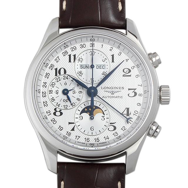 ロンジン マスターコレクション クロノグラフ ムーンフェイズ L2.773.4.78.3 メンズ(015PLGAN0001)【新品】【腕時計】【送料無料】