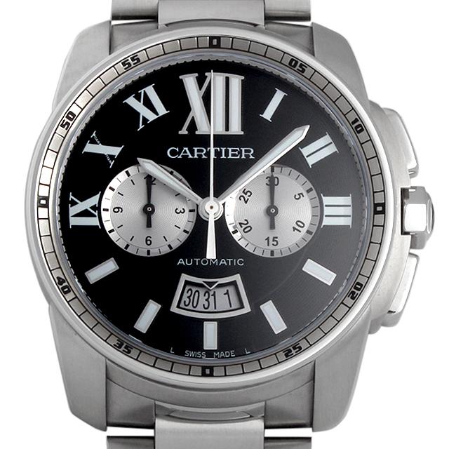 【48回払いまで無金利】カルティエ カリブル ドゥ カルティエ クロノグラフ W7100061 メンズ(027JCAAN0019)【新品】【腕時計】【送料無料】
